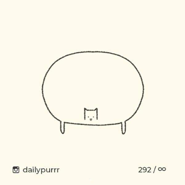貓咪插畫 也吹極簡風? 網友笑:全都87%像!