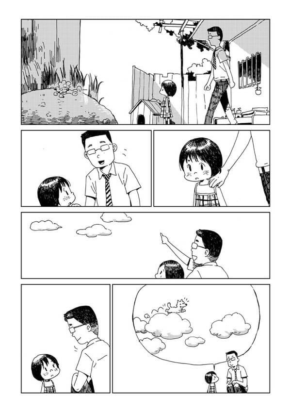 狗狗雲朵 來自泰國作家的無聲漫畫 牠搬到天堂了!