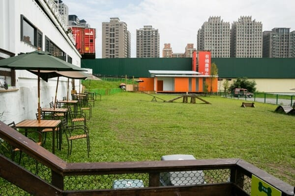 台中寵物餐廳 游泳池夏日大作戰 戶外草皮區