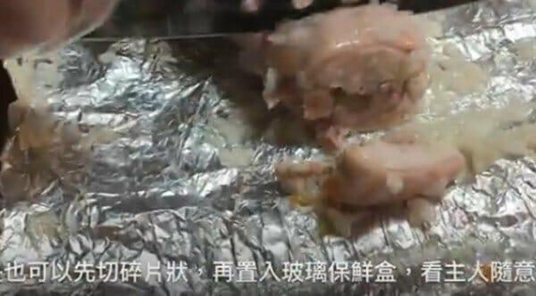 珍珠雞腿蔬菜捲 狗狗鮮食 電鍋作法 切片