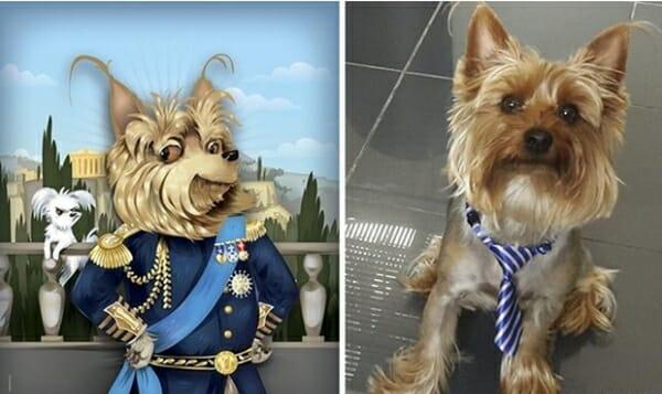 寵物插畫家 神筆畫出寵物寫實神情,只透過一張照片... Sammy,與鄰居家的狗似乎有著不共戴天之仇