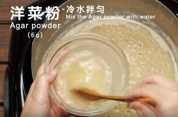 寵物月餅 中秋節到囉! 洋菜粉先用冷水拌勻喔!