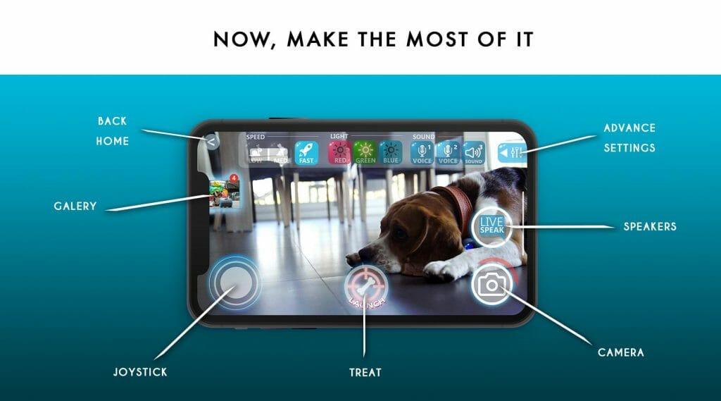 狗狗陪伴 讓你隨時關心毛孩 手機程式連線介面